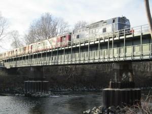 Lechbrücke mit Sonderzug