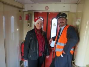 Unser Zugpersonal Andrea und Stefan
